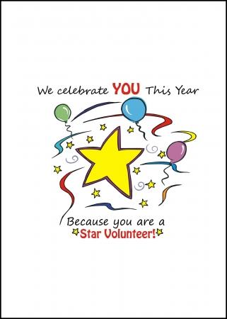 230 Star Volunteer Card